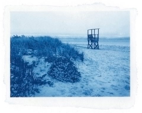 Remembering Cape Cod. Cyanotype print.