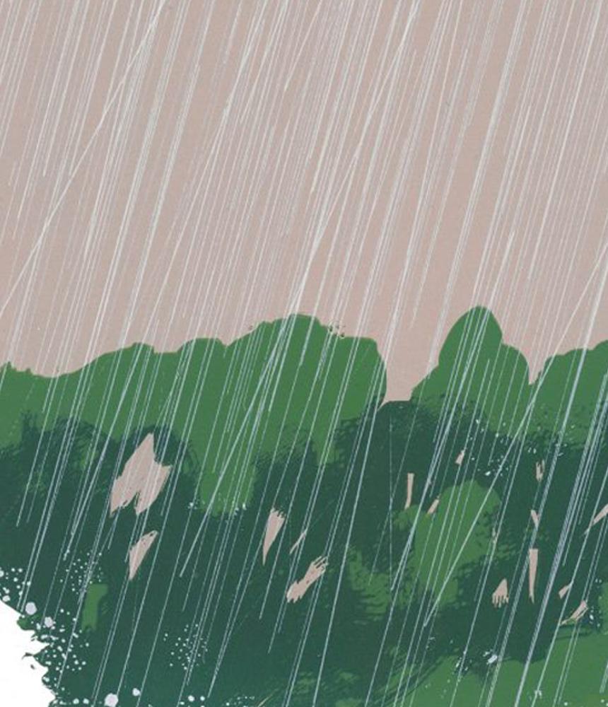 Summer Rain, screen print (section)