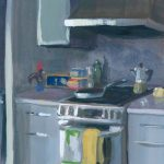 Kitchen odds and ends, Montreal. Gouache on paper.